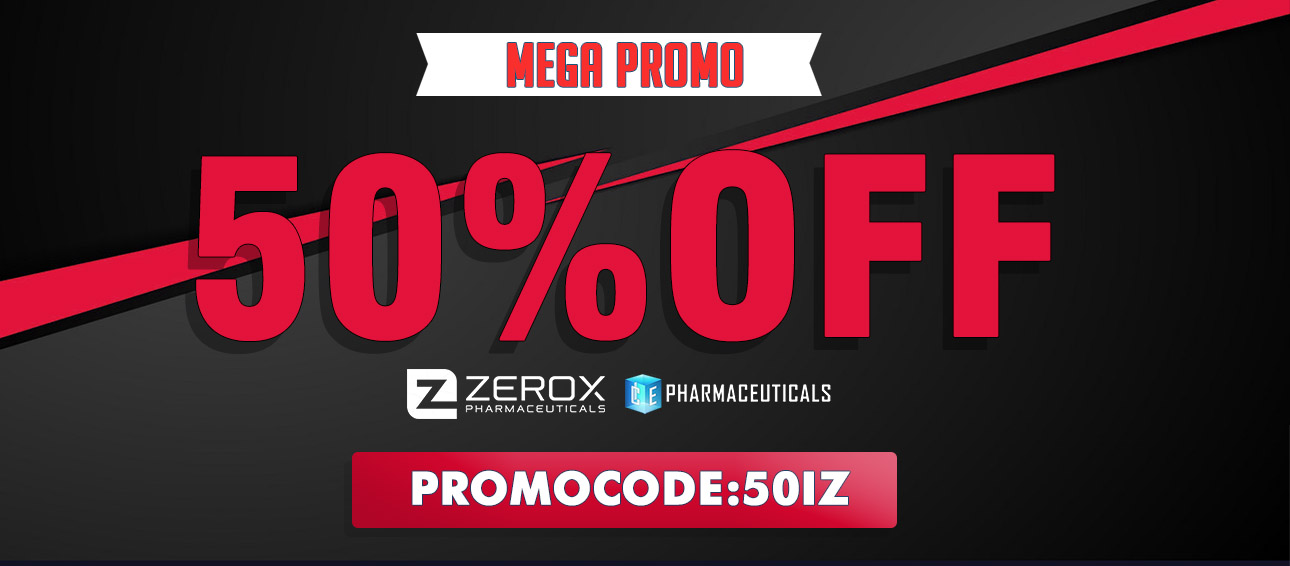 50% off Zerox & Ice Pharmaceuticals