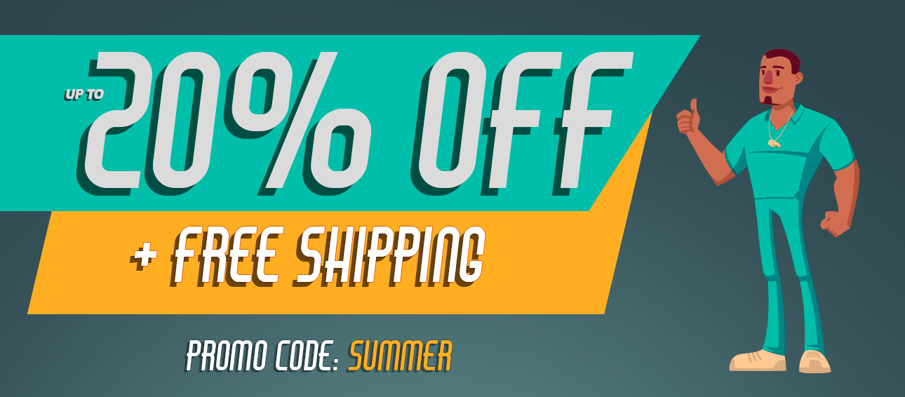 Save up to 20% off + Free Shipping